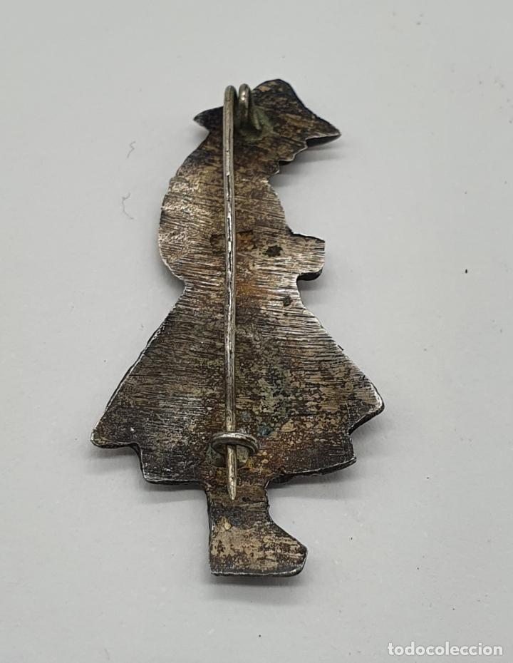 Joyeria: Broche antiguo de campesina andina en plata de ley cincelada a mano . - Foto 5 - 214726848