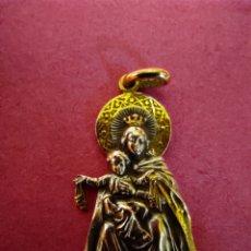 Joalheria: MEDALLA VIRGEN DEL CARMEN PLATA Y ORO. Lote 214738056