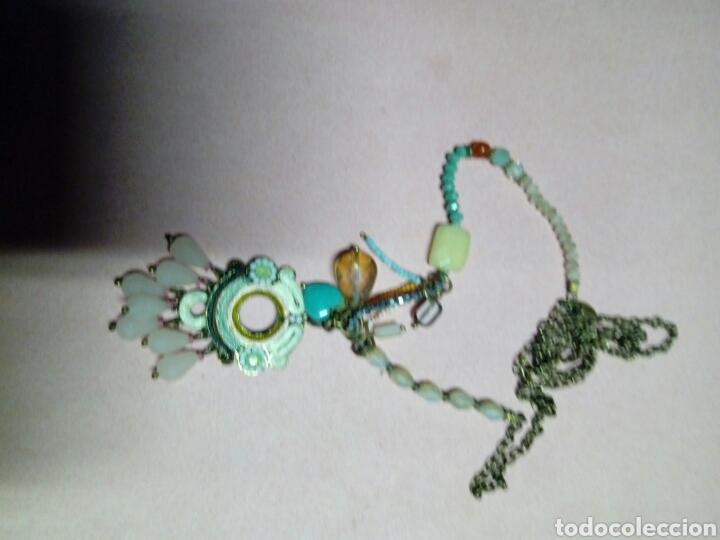 Joyeria: Colgante bisuteria antigua pedreria cadena de laton adornada - Foto 5 - 214800367