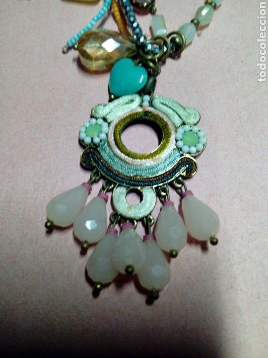 Joyeria: Colgante bisuteria antigua pedreria cadena de laton adornada - Foto 3 - 214800367