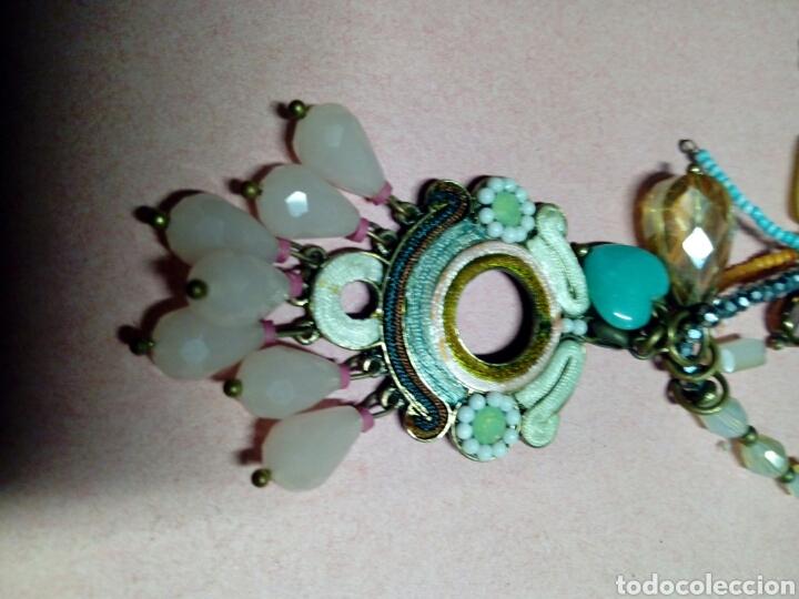 Joyeria: Colgante bisuteria antigua pedreria cadena de laton adornada - Foto 2 - 214800367