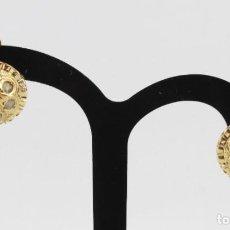 Joyeria: PENDIENTES DE BOTÓN ORO Y DIAMANTES TALLA ROSA. CA 1890 - A PAIR OF EARRINGS WITH CUT ROSE DIAMONDS. Lote 218101087