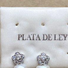 Joyeria: PENDIENTES DE PLATA Y PERLAS. Lote 218101171