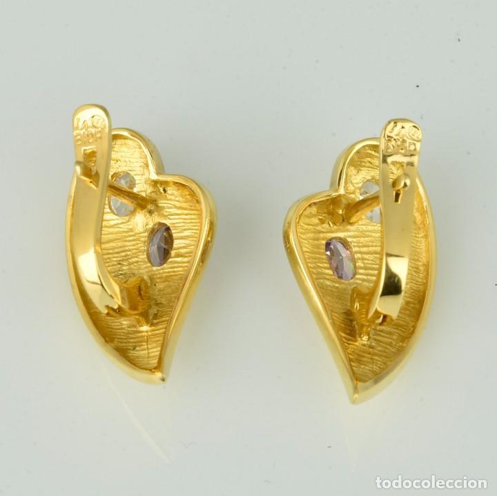 Joyeria: Pendientes de oro de 18 quilates. con circonitas. Peso: 4.76 gr. - Foto 4 - 218102227