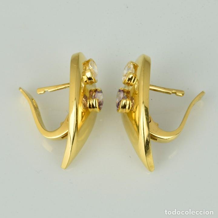 Joyeria: Pendientes de oro de 18 quilates. con circonitas. Peso: 4.76 gr. - Foto 6 - 218102227