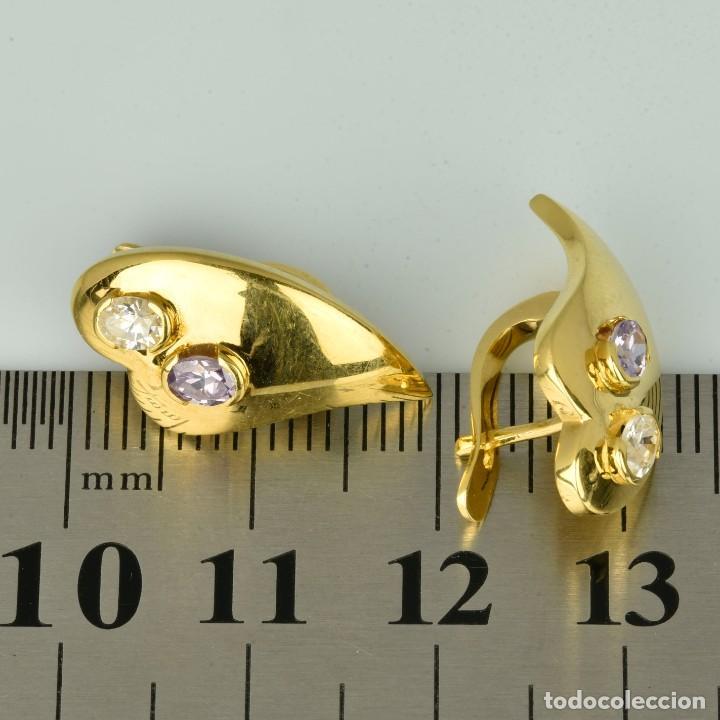 Joyeria: Pendientes de oro de 18 quilates. con circonitas. Peso: 4.76 gr. - Foto 8 - 218102227