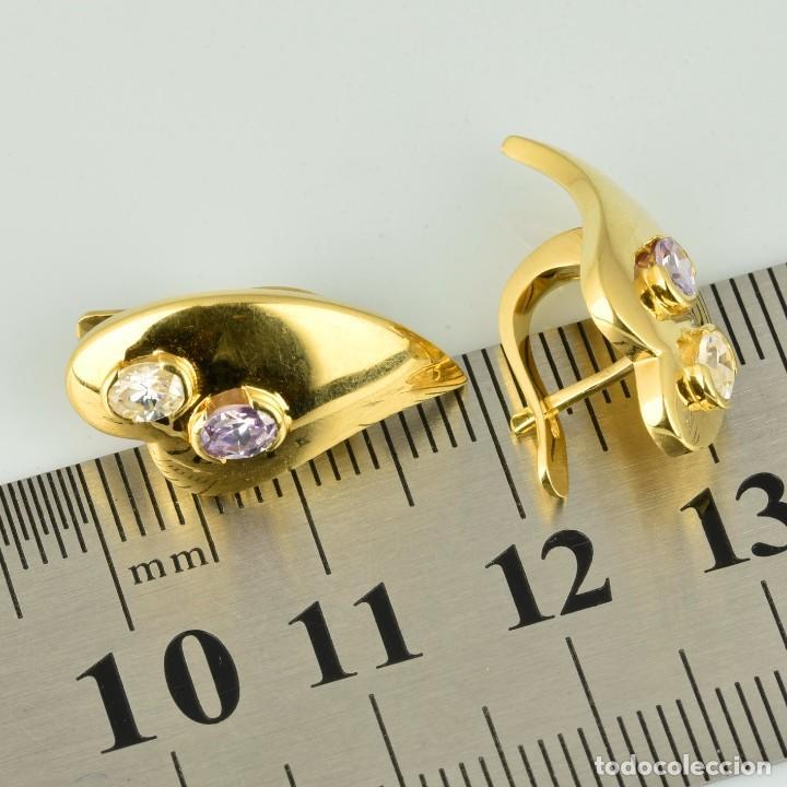 Joyeria: Pendientes de oro de 18 quilates. con circonitas. Peso: 4.76 gr. - Foto 9 - 218102227