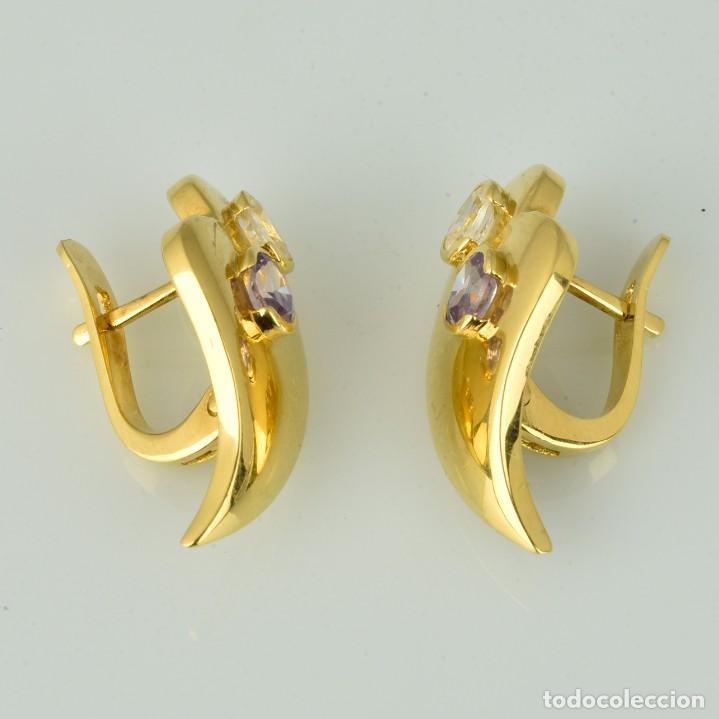 Joyeria: Pendientes de oro de 18 quilates. con circonitas. Peso: 4.76 gr. - Foto 5 - 218102227
