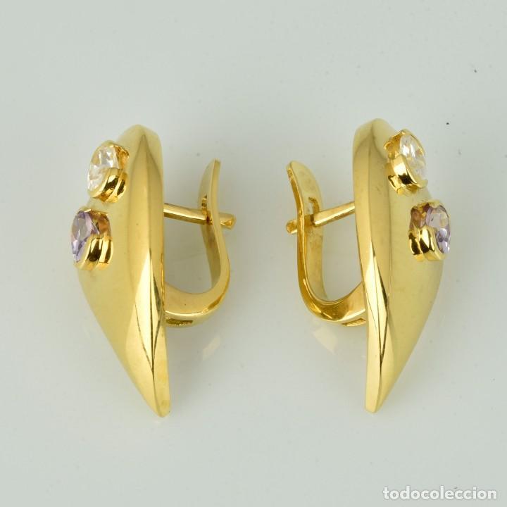 Joyeria: Pendientes de oro de 18 quilates. con circonitas. Peso: 4.76 gr. - Foto 3 - 218102227