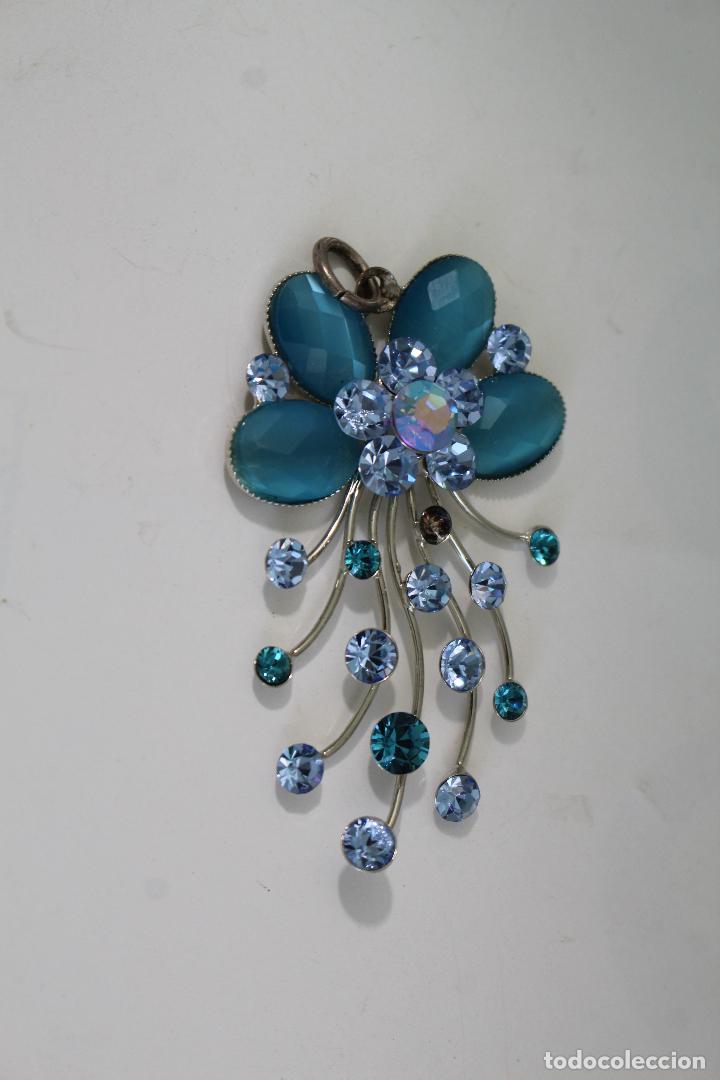 Joyeria: colgante en plata de ley con cristales azules - Foto 2 - 218139313