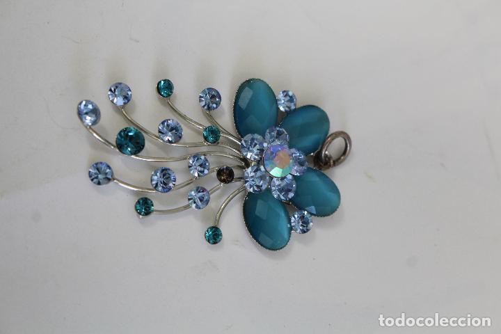 Joyeria: colgante en plata de ley con cristales azules - Foto 5 - 218139313