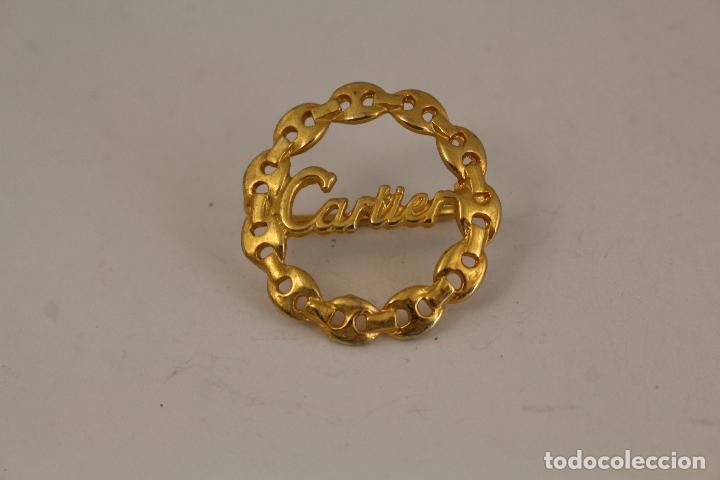 Joyeria: pasador cartier chapado oro - Foto 5 - 218139916
