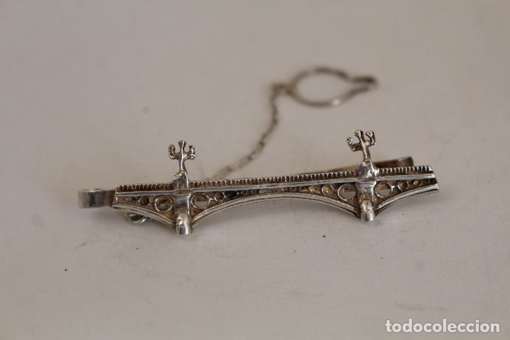 Joyeria: sujeta corbatas de puente de triana en plata de ley - Foto 3 - 218140402