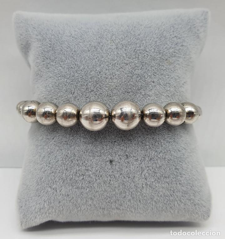 Joyeria: Pulsera antigua en perlas de plata de ley contrastada 925 . - Foto 4 - 219525247