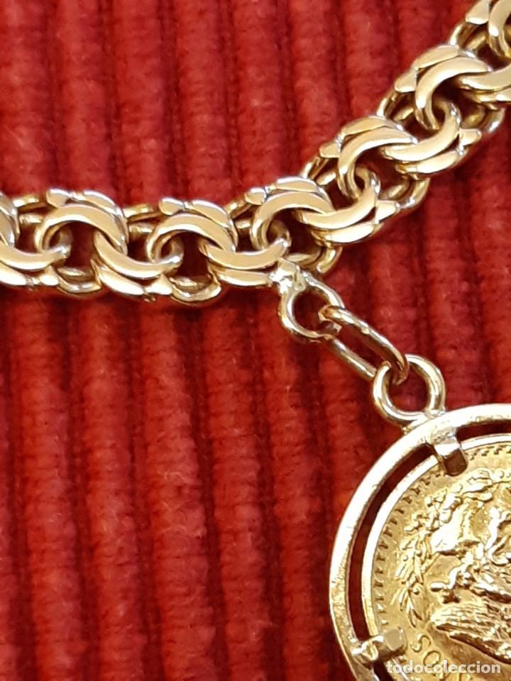 Joyeria: Antigua pulsera con moneda - Foto 4 - 219534678