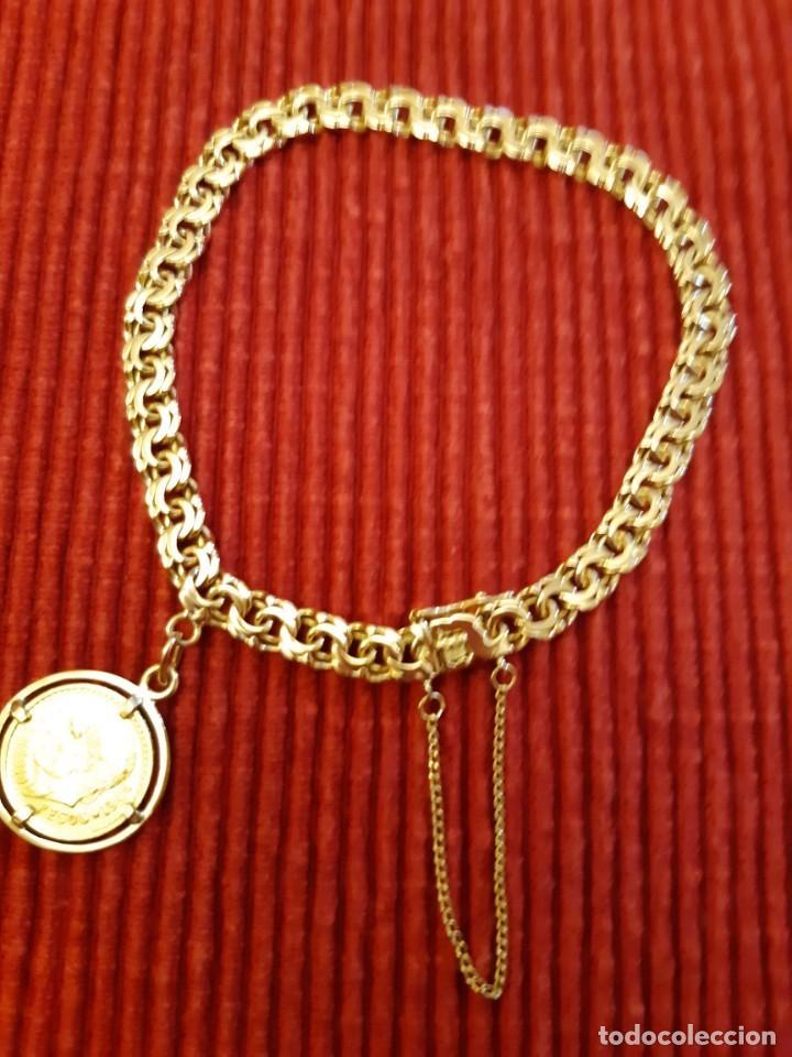 Joyeria: Antigua pulsera con moneda - Foto 11 - 219534678