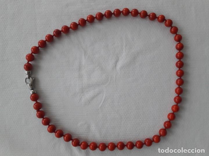 Joyeria: Collar de coral teñido rojo - Foto 2 - 219650806