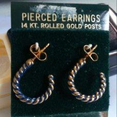 Joyeria: PENDIENTES - 14 KT ROLLED GOLD (DORADOS) - VINTAGE. Lote 220546597