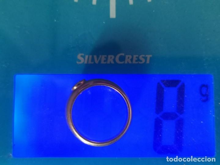 Joyeria: Antiguo Anillo Solitario sortija de Oro 18k y Diamante talla antigua 0,20 ct. peso total 8 gr - Foto 7 - 220600457