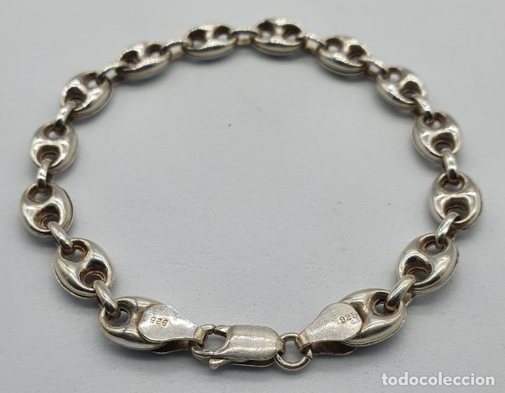 Joyeria: Elegante pulsera de eslabones calabrote en plata de ley contrastada . - Foto 2 - 220640593
