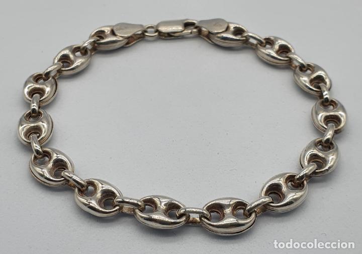Joyeria: Elegante pulsera de eslabones calabrote en plata de ley contrastada . - Foto 3 - 220640593