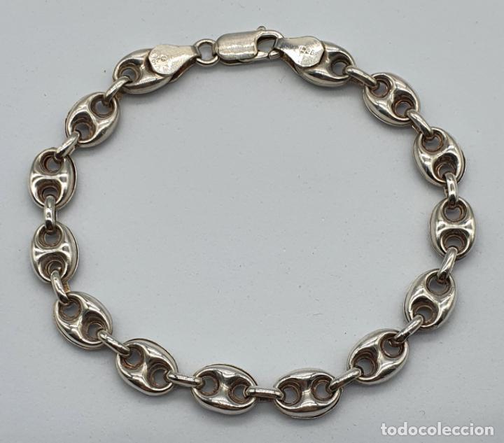 Joyeria: Elegante pulsera de eslabones calabrote en plata de ley contrastada . - Foto 4 - 220640593