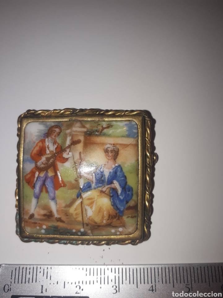 BROCHE DE PORCELANA DE LIMOGES (Joyería - Broches Antiguos)
