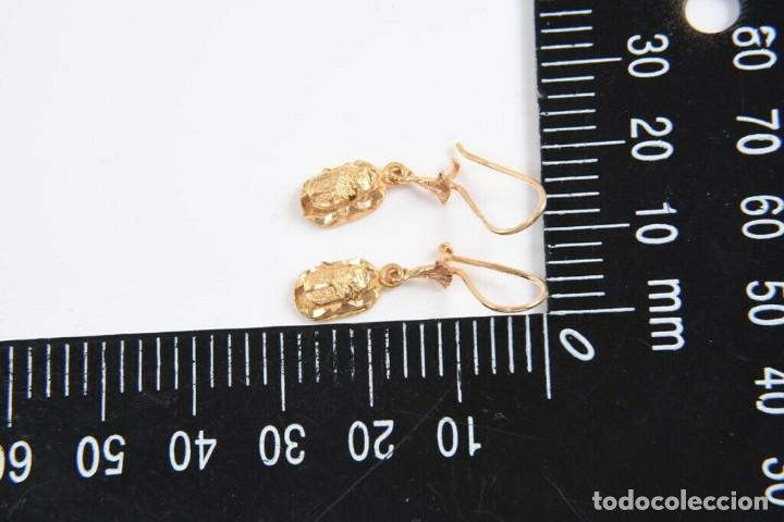 Joyeria: Pendientes colgantes de oro de 21 kt (marcados con 21 k). preciosos de Yemen. - Foto 5 - 221324663