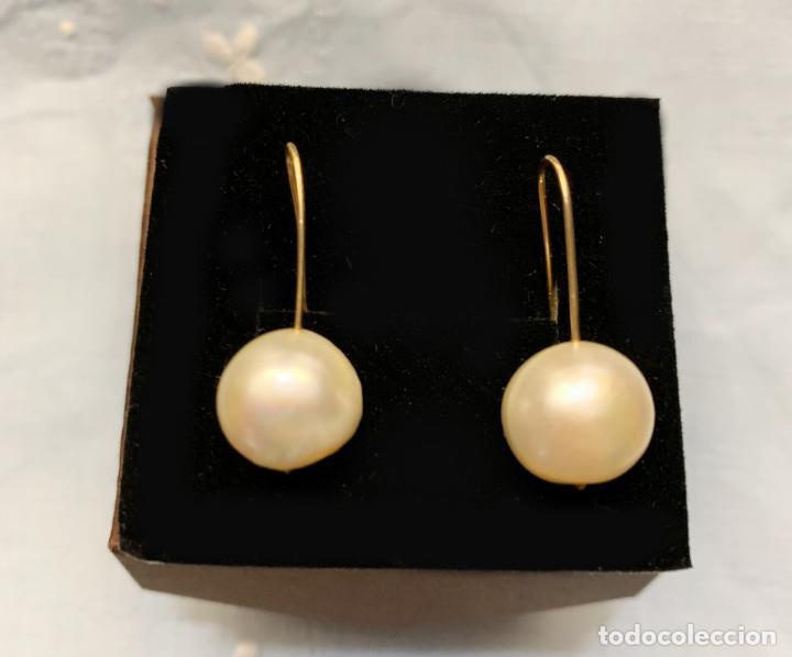 Joyeria: Pendientes de oro de perla colgante - Foto 4 - 221436005