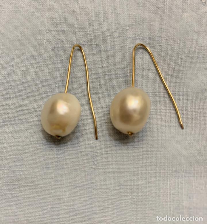Joyeria: Pendientes de oro de perla colgante - Foto 2 - 221436005