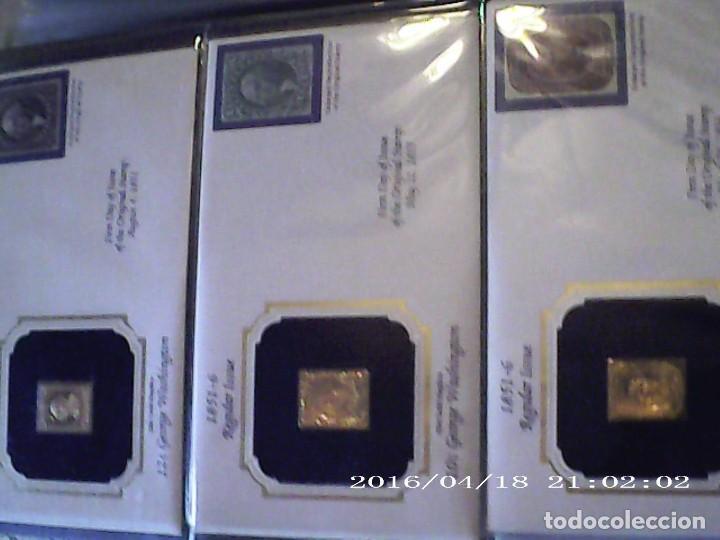 Joyeria: Única en T.Colección 100 SELLOS de oro 22 kilates colección completa de 18847 a 1932 USA - Foto 6 - 221436296