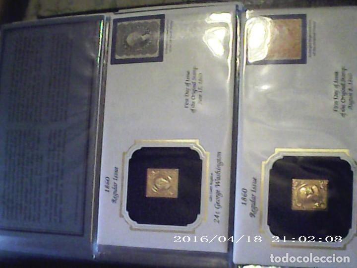 Joyeria: Única en T.Colección 100 SELLOS de oro 22 kilates colección completa de 18847 a 1932 USA - Foto 7 - 221436296