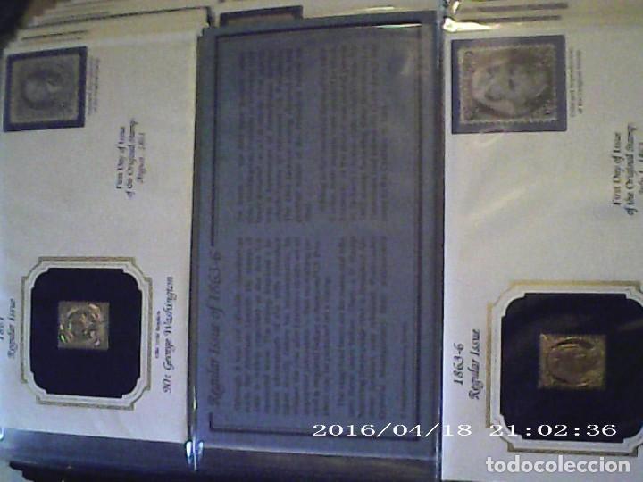 Joyeria: Única en T.Colección 100 SELLOS de oro 22 kilates colección completa de 18847 a 1932 USA - Foto 11 - 221436296
