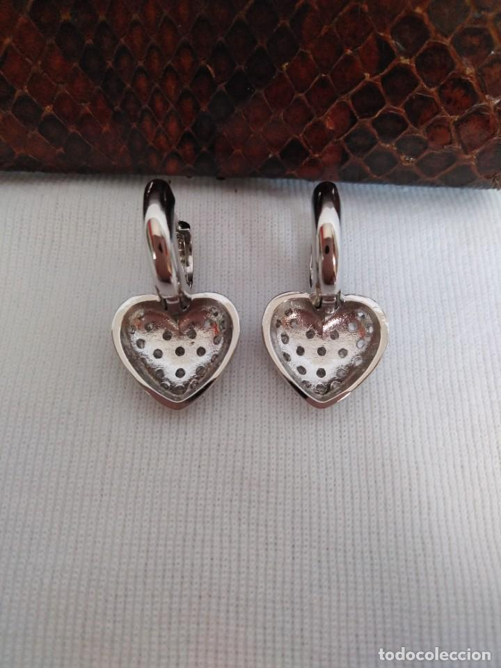 Joyeria: Pendientes de plata con zafiros blancos - Foto 2 - 221514576