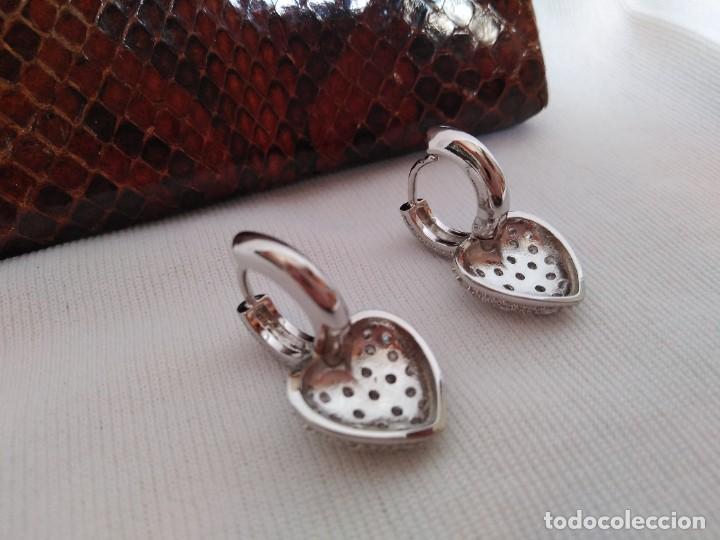 Joyeria: Pendientes de plata con zafiros blancos - Foto 3 - 221514576