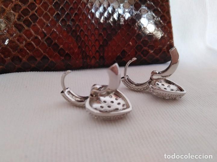 Joyeria: Pendientes de plata con zafiros blancos - Foto 4 - 221514576