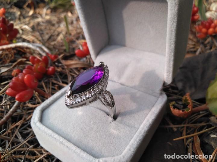 Joyeria: Anillo de plata con amatista y piedras semipreciosas - Foto 2 - 221514948