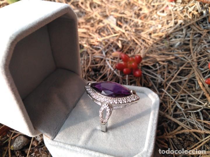 Joyeria: Anillo de plata con amatista y piedras semipreciosas - Foto 5 - 221514948