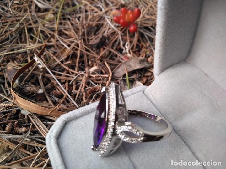 Joyeria: Anillo de plata con amatista y piedras semipreciosas - Foto 8 - 221514948