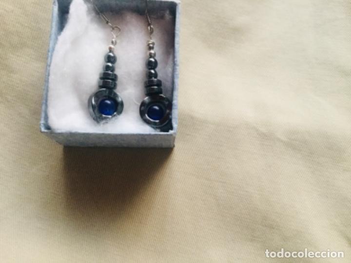 Joyeria: Pendientes de obsidiana,plata y lapislazuri, nuevos - Foto 7 - 203525111