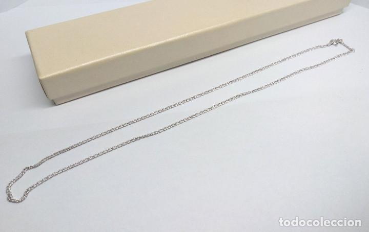 Joyeria: CADENA DE PLATA DE LEY ACABADA EN RODIO - MEDIDA 50 cm. - Foto 4 - 222098281