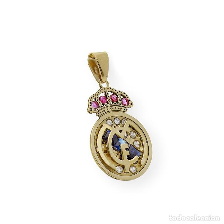 Joyeria: Colgante con Emblema del Real Madrid en Oro de Ley Diamantes Rubíes y Zafiros - Foto 2 - 276989863