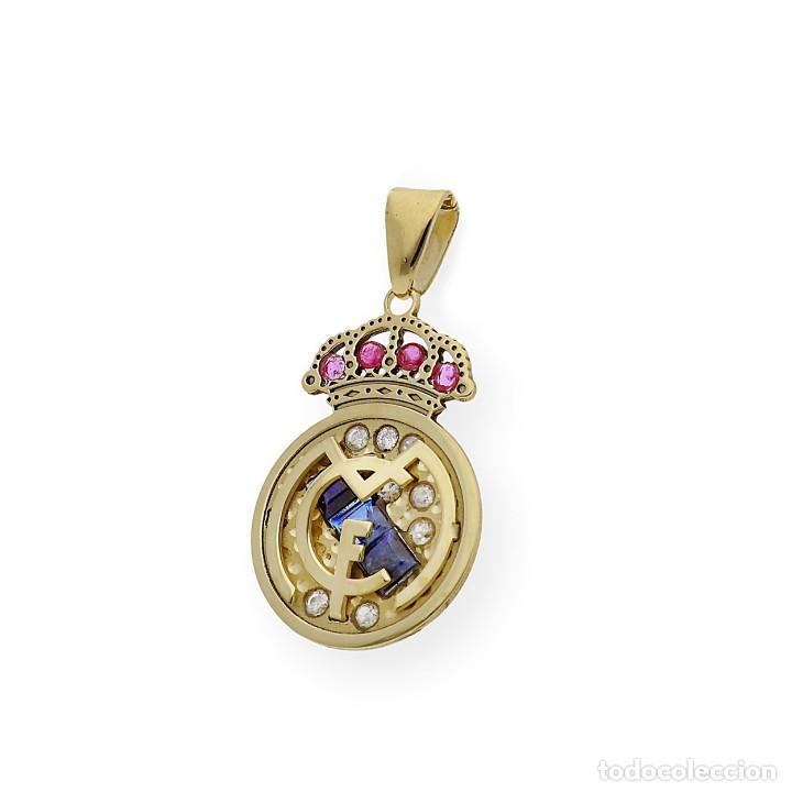 Joyeria: Colgante con Emblema del Real Madrid en Oro de Ley Diamantes Rubíes y Zafiros - Foto 3 - 276989863