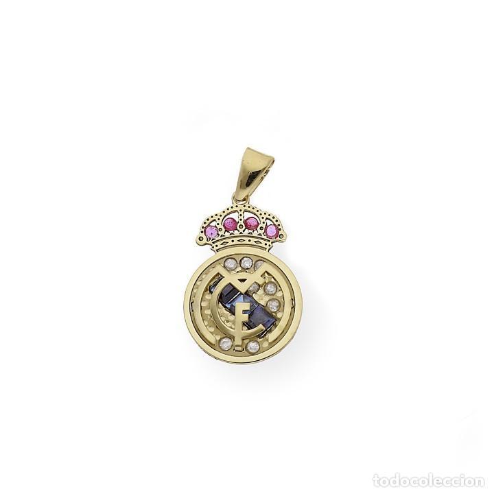 Joyeria: Colgante con Emblema del Real Madrid en Oro de Ley Diamantes Rubíes y Zafiros - Foto 4 - 276989863