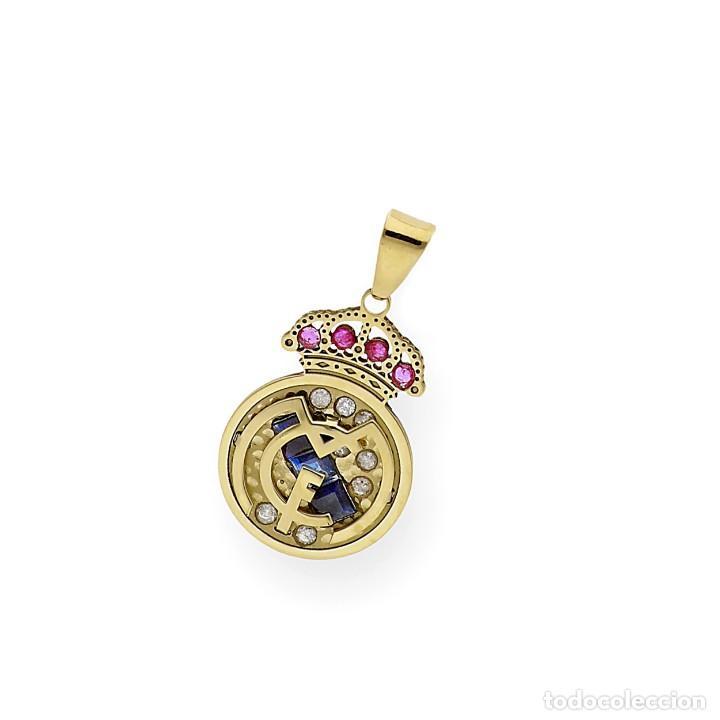 Joyeria: Colgante con Emblema del Real Madrid en Oro de Ley Diamantes Rubíes y Zafiros - Foto 5 - 276989863
