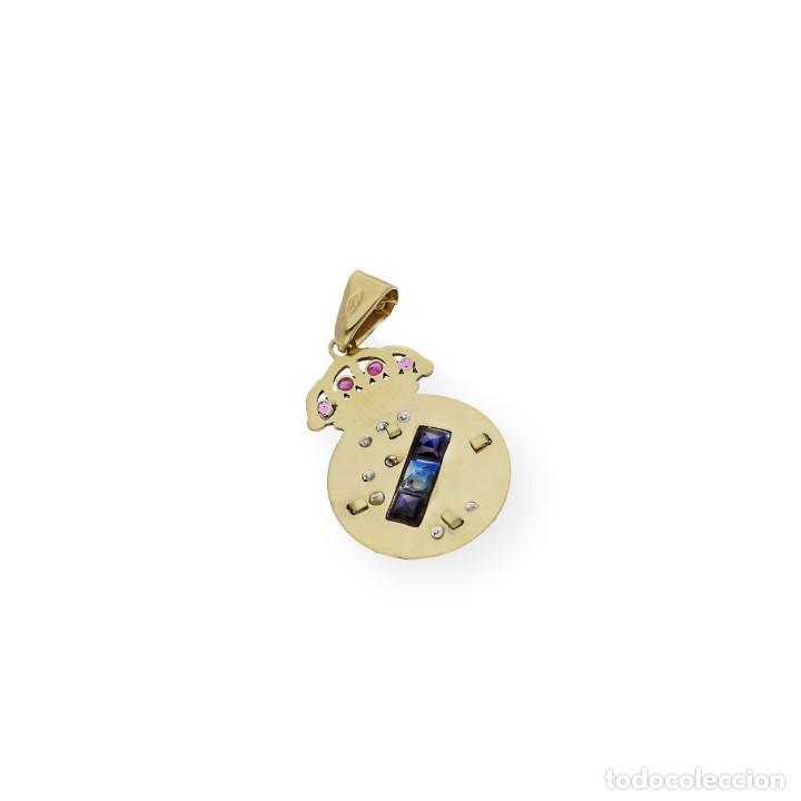 Joyeria: Colgante con Emblema del Real Madrid en Oro de Ley Diamantes Rubíes y Zafiros - Foto 6 - 276989863