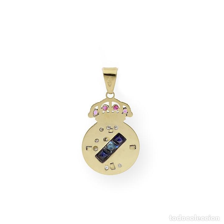 Joyeria: Colgante con Emblema del Real Madrid en Oro de Ley Diamantes Rubíes y Zafiros - Foto 7 - 276989863