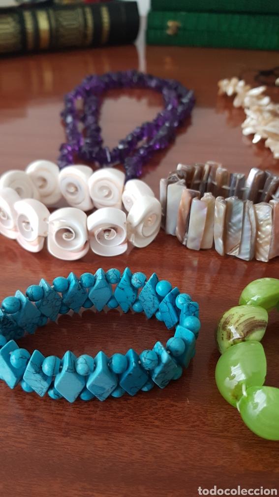 Joyeria: Lote de pulseras y collares de piedras naturales - Foto 2 - 222880717