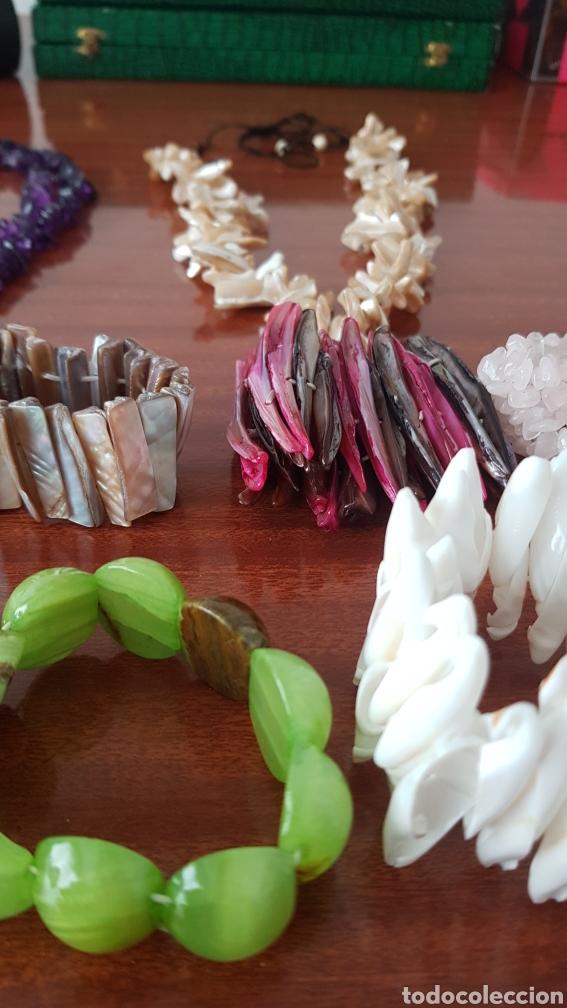 Joyeria: Lote de pulseras y collares de piedras naturales - Foto 3 - 222880717