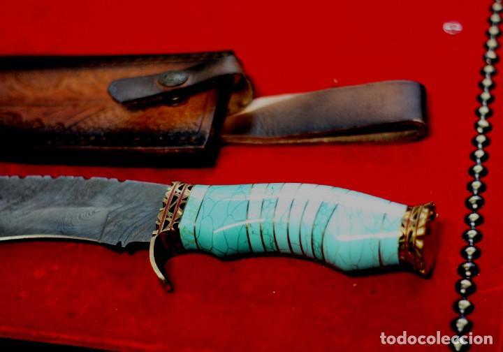 Joyeria: Cuchillo joyeria.mango piedra turquesa en Damasco - Foto 8 - 223652371